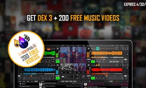 DEX 3 plus 200 free music videos