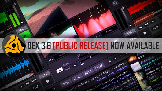 DEX 3.6 VDJ software public release
