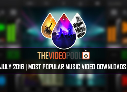 Most Popular Music Video Downloads July 2016