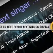 use background image or video behind karaoke screen