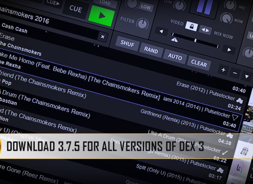 Version 3.7.5 for all DJ software now available