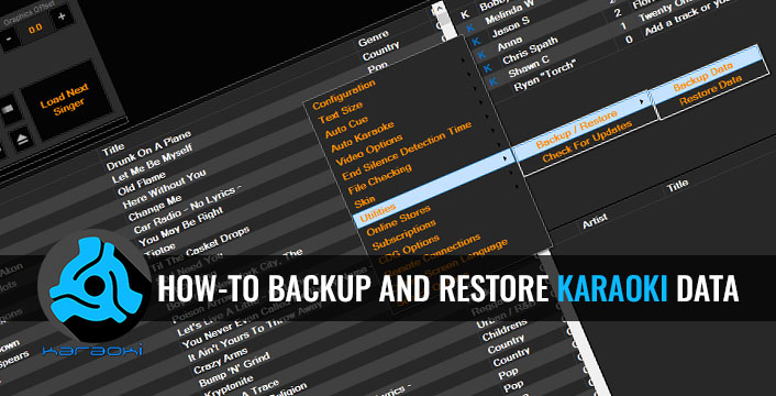 Karaoke Software Tip | How-To Backup And Restore All Data In