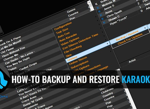 how to backup and restore Karaoki data