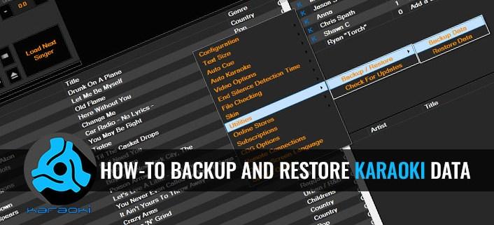 how to backup and restore Karaoki data