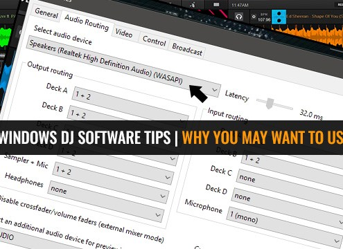 Using WASAPI Drivers With DJ Software