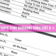 Party Tyme Karaoke song List 8-1-17