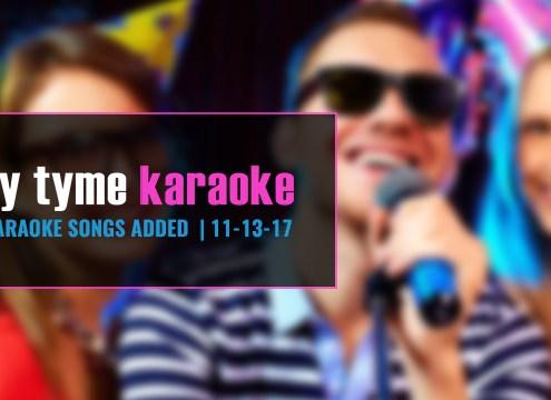 Party Tyme Karaoke subscription update 11-13-17