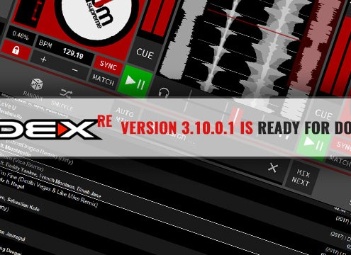 The official DEX 3 RE v3.10.0.1 DJ software update