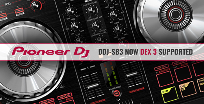 DJ Controllers | Pioneer DJ DDJ-SB3 Now DEX 3 and DEX 3 RE