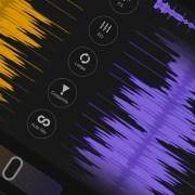 DJ App waveforms