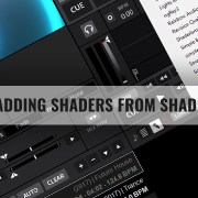 how to add shaders to DEX 3 video mixing software