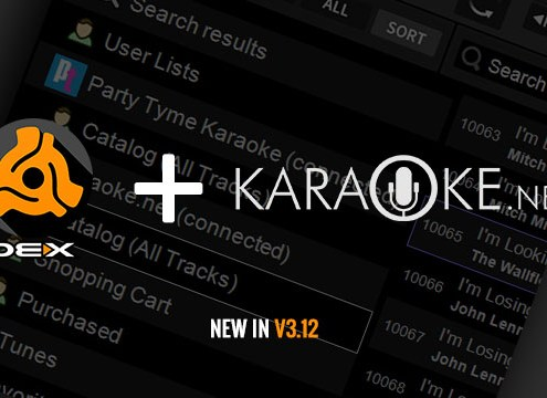 New in DEX 3.12 Karaoke Song Store