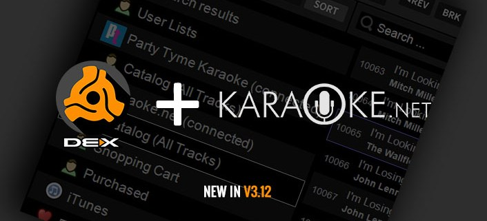 New in DEX 3.12 Karaoke Song Store