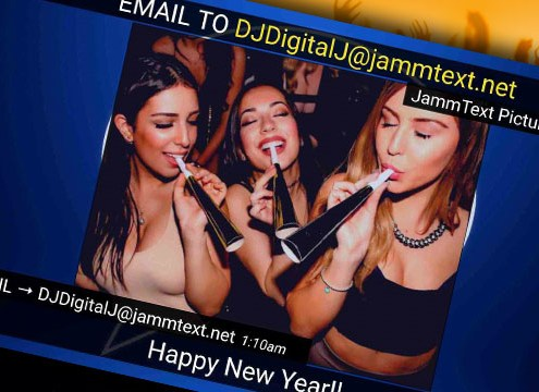 JammText Version 1.3 email to screen