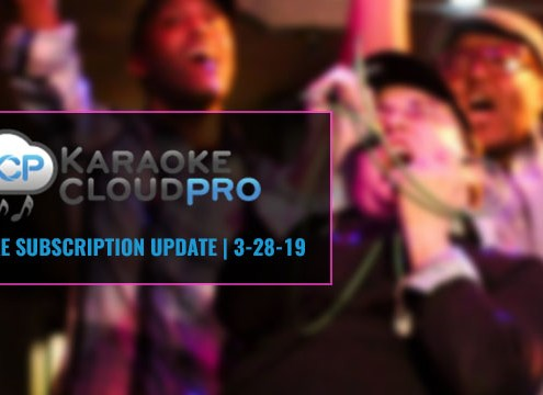 Karaoke Cloud Pro subscription update 3-28-19