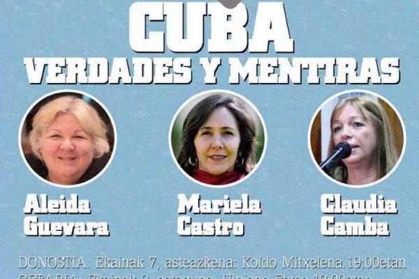 «Cuba, Verdades y Mentiras»: Mariela Castro y Aleida Guevara en Donostia, Getaria y Bilbao
