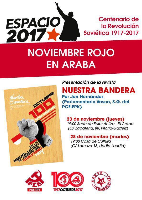 Presentación de la revista Nuestra Bandera en Laudio-Llodio
