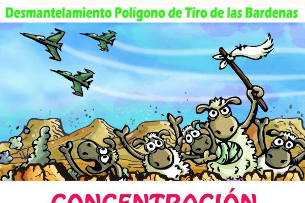 Apoyo del PCE-EPK a la movilización contra el polígono militar de las Bardenas. OTAN EZ!!!