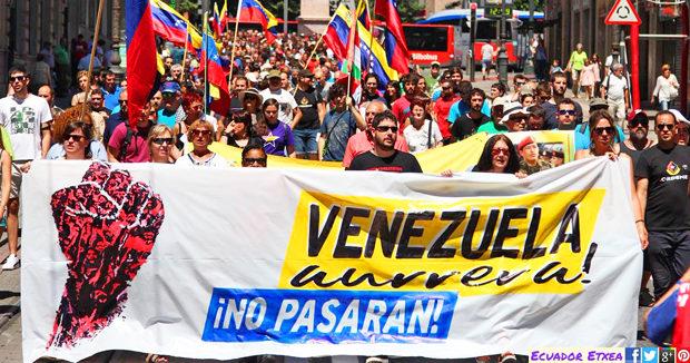 Kanpo injerentzia eta interbentzioei EZ! Ez Venezuelan ezta inon ere. No a la intervención extranjera en Venezuela!