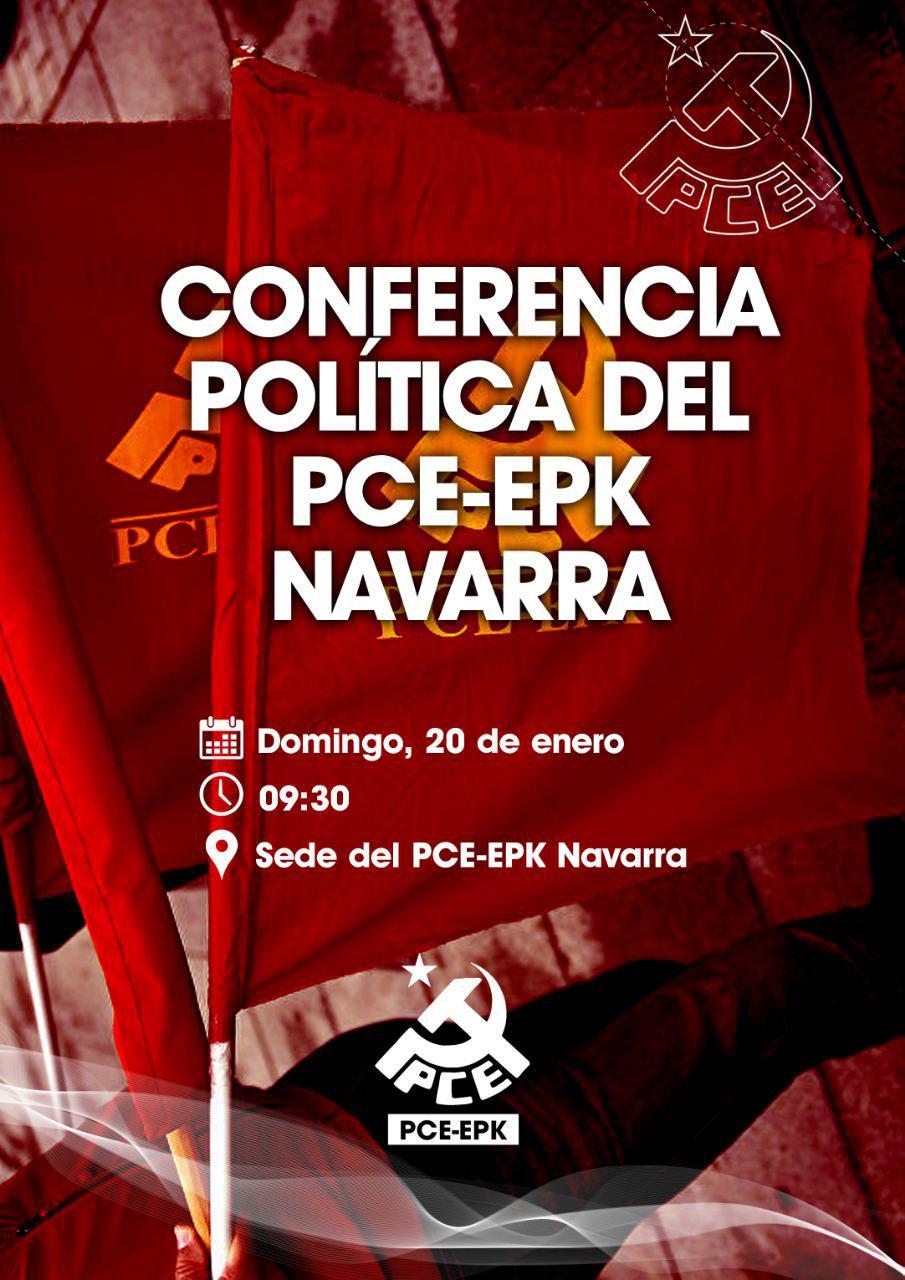 Conferencia Política del Partido Comunista en Navarra.