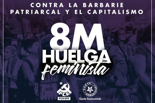 M8 Greba Feminista. Convocadas las movilizaciones para el 8 de Marzo.