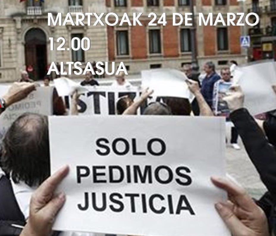 """El PCE-EPK secunda la manifestación convocada por """"Altsasu Gurasoak"""" el próximo domingo 24 de marzo en Alsasua contra la desproporcionada deriva del proceso judicial"""