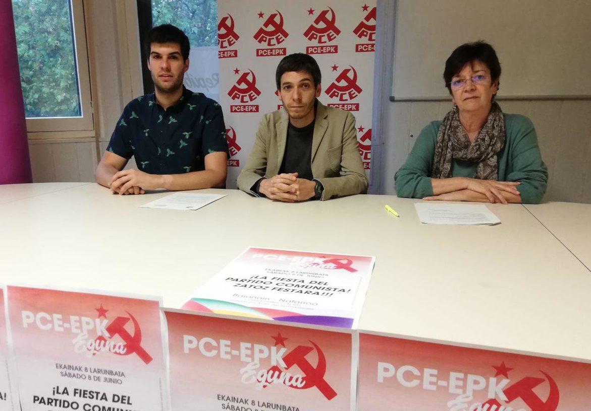 El PCE-EPK presenta su fiesta anual. El EPK eguna se celebrará este sábado día 8 de junio Barañain.