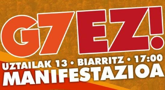 Movilización contra el G7 en Biarritz.  Uztailak 13 de Julio.