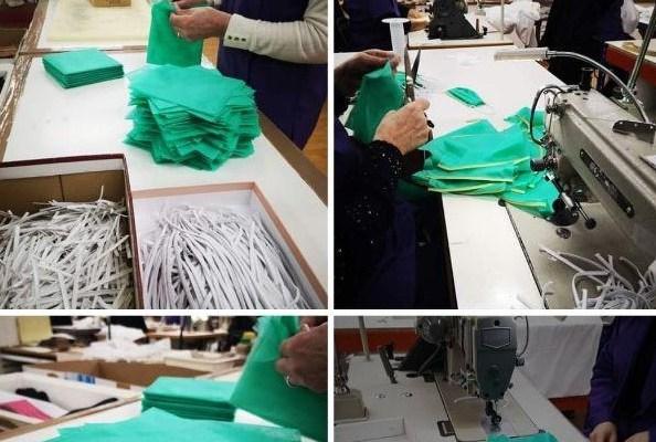 Trabajadores modifican la producción de sus empresas para producir material sanitario para derrotar al Covid-19