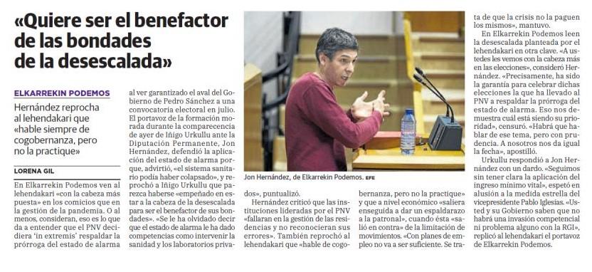 Una vez más, PNV y Gobierno Vasco ponen sus intereses por encima de la Salud pública.