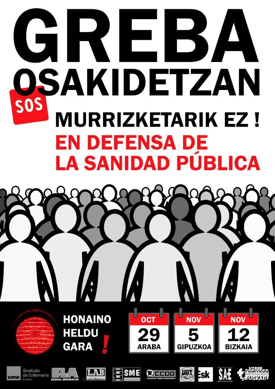 El PCE-EPK respalda las jornadas de huelga en Osakidetza y exige al Gobierno Vasco la reversión de un modelo sanitario basado en temporalidad y externalizaciones.