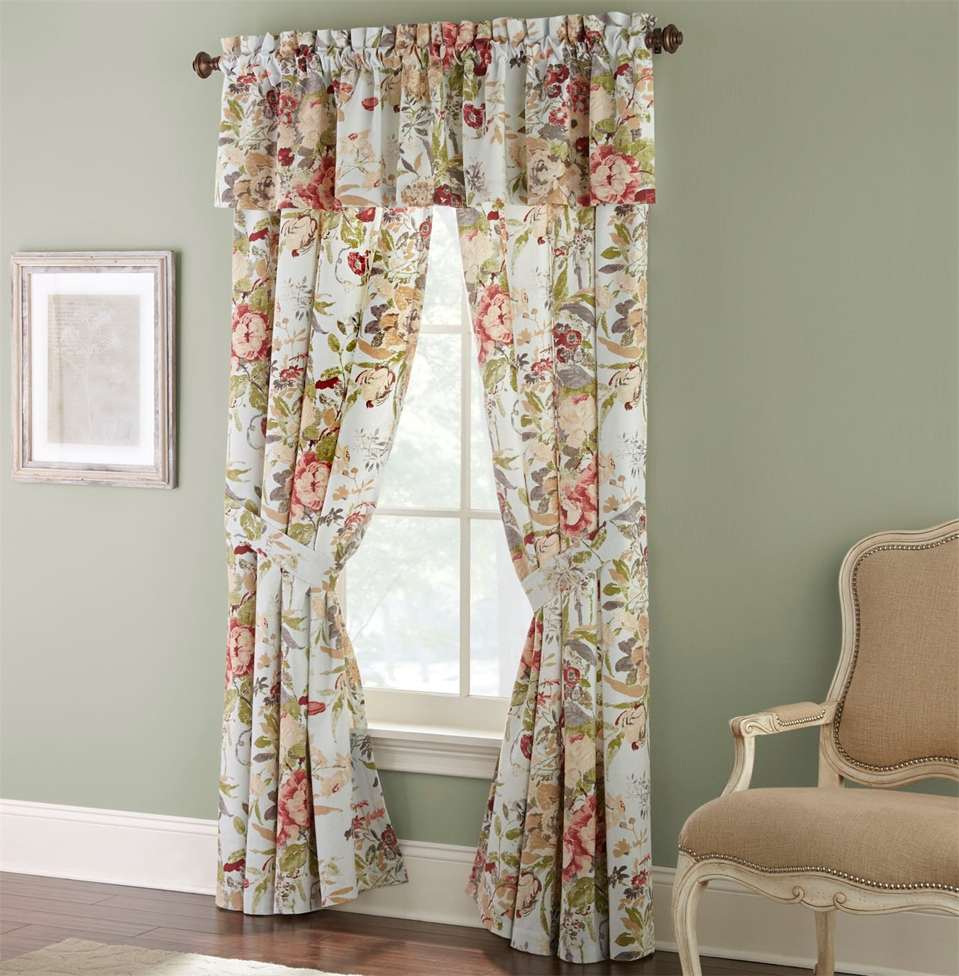 Lorraine 80x17 Lined Valance By Rose Tree
