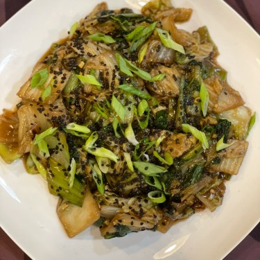 Ginger and Sweet Soy Napa Cabbage & Bok Choy Stir Fry