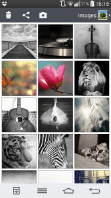 לחיצה על לחצן ה + מובילה אותנו לגלריה לבחירת תמונה
