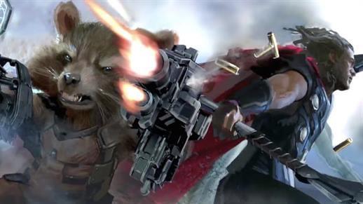 avengers inifinity war thor rocket