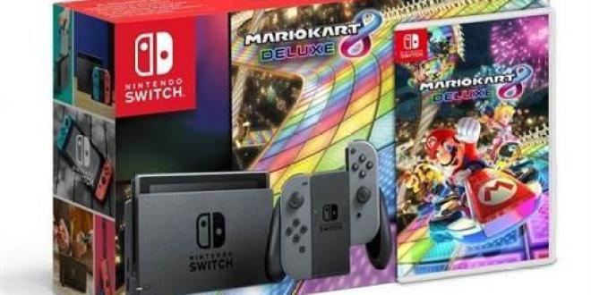 Nintendo Switch עם Mario Kart 8 Deluxe