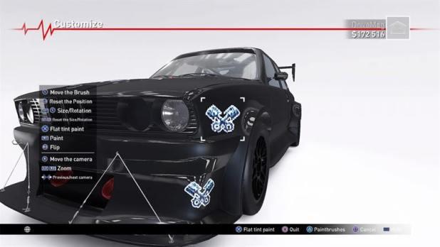 אזור המוסך במשחק - V-Rally 4