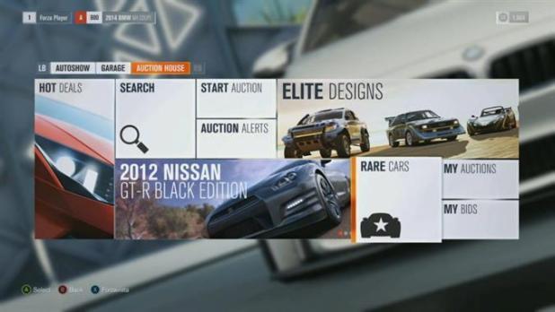 Forza Horizon 4 Menus