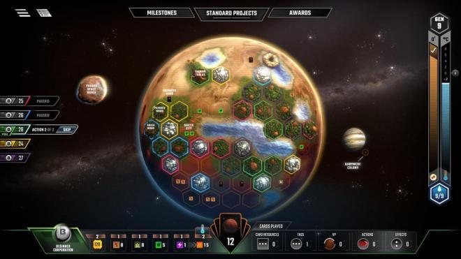 Terraforming Mars' 'play board'