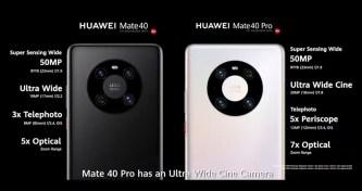מערך צילום Mate 40, Mate 40 Pro