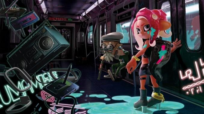Das Foto zeigt das Titelbild der Octo-Expansion von Splatoon 2.