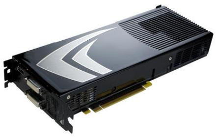 Geforce 9800 GX2: Introduced on 18th March; with two G92 GPUs Nvidia reclaims the performance crown. But the typical multi GPU problems like micro stuttering, high energy consumption and suboptimal scaling tarnished the success.