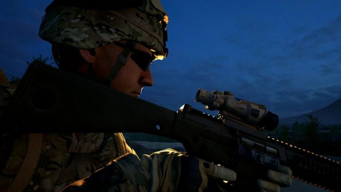 The profile of a long range marksman in Squad, one of the best sniper games