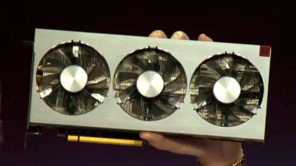 AMD Radeon VII on stage
