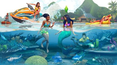 You can feed your Sims to the sharks in The Sims 4: Island ...