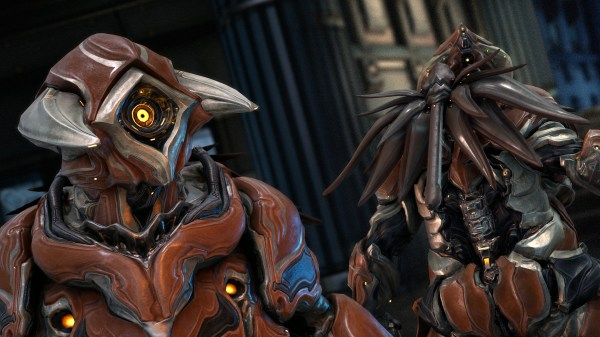 "Warframe Grendel lands this month to eat and ""violently puke out bile-soaked enemies"""