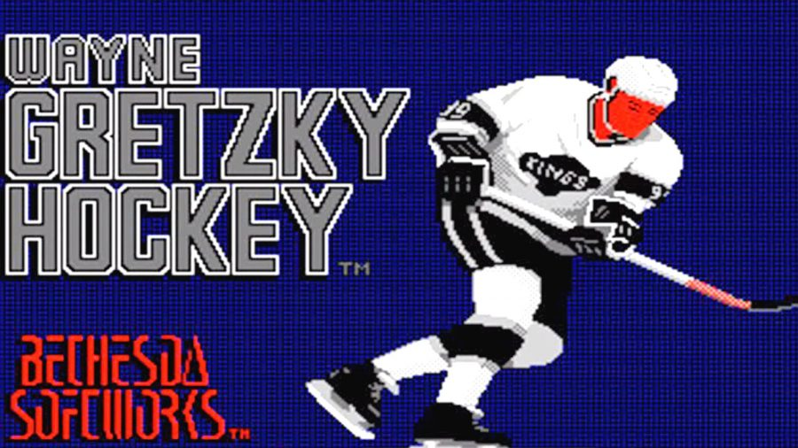 Cover art of Bethesda Game Studios' Wayne Gretzky Hockey game
