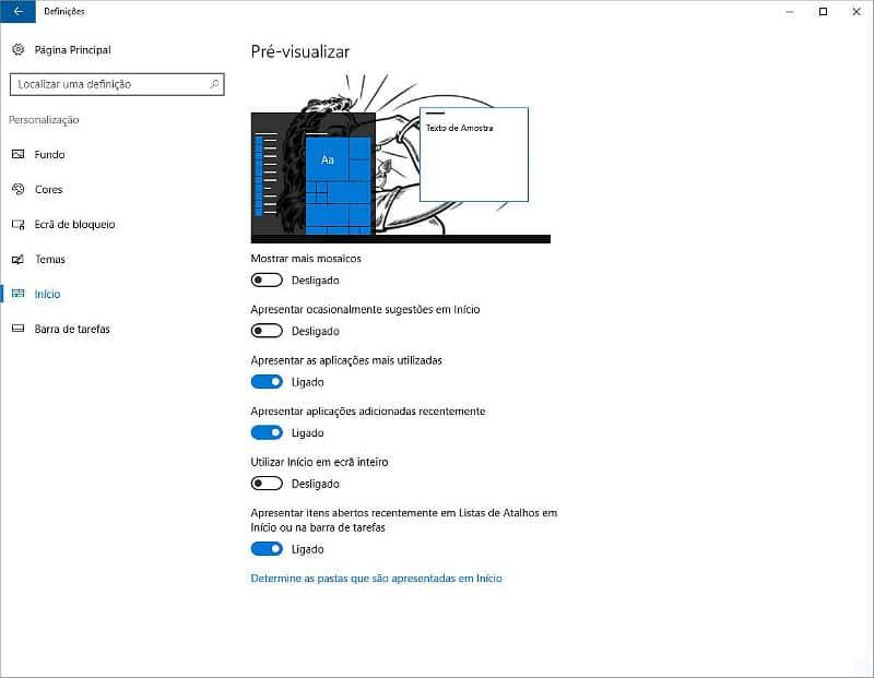 Desligar sugestões - Windows 10