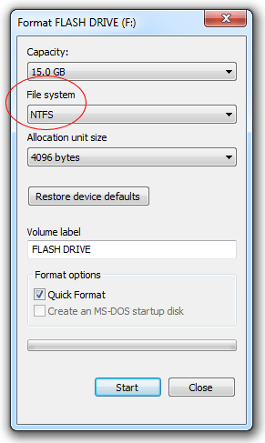 format-flash-drive