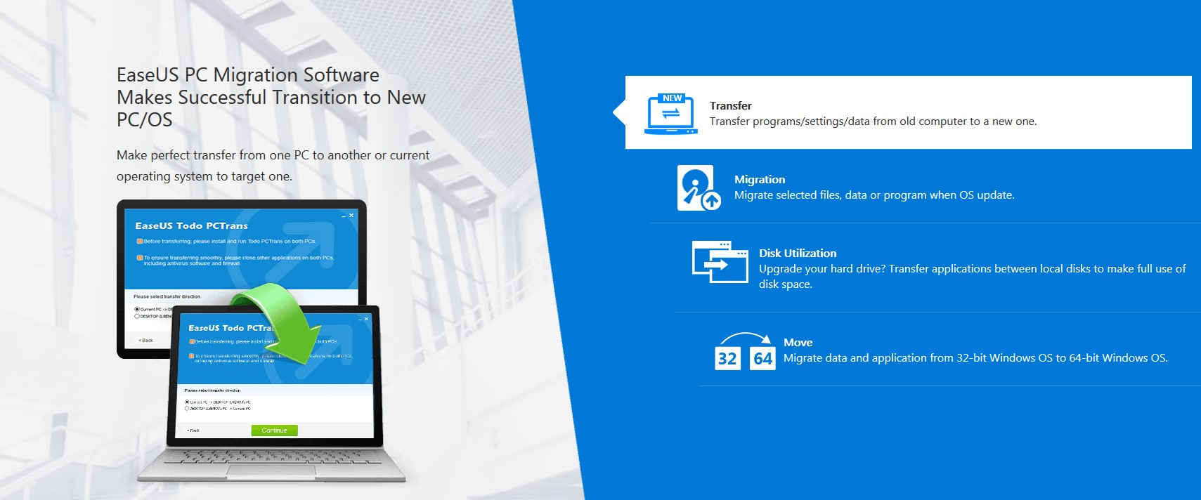 EaseUS PC Migration Software Makes Successful Transition to New PC